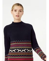 Hobbs Hollie Merino Wool Blend Sweater - Blue