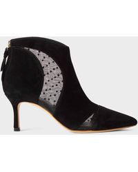 Hobbs Rhea Suede Stiletto Ankle Boots - Black