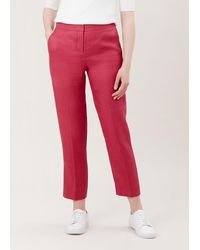 Hobbs Anthea Linen Trousers - Pink