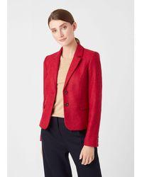 Hobbs Hackness Wool Jacket - Red
