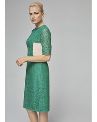 Hobbs Penny Lace Shift Dress - Green
