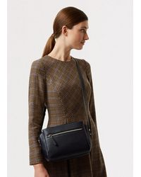 Hobbs Hadley Leather Cross Body Bag - Blue