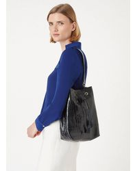 Hobbs Hampstead Bucket Bag - Blue
