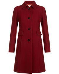 Hobbs - Dark Red 'evalina' Coat - Lyst