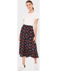 Hobbs - Annette Floral Midi Skirt - Lyst