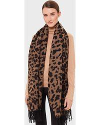 Hobbs Zaria Leopard Scarf - Brown