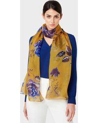 Hobbs Roselind Silk Scarf - Yellow
