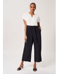 Hobbs Caitlyn Spot Cropped Jumpsuit - Blue