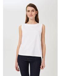 Hobbs Maddy Cotton Vest - White