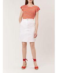Hobbs Bronte Skirt - White