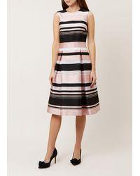 Hobbs Bridgette Stripe Dress - Black