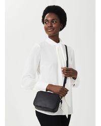 Hobbs Pelham Leather Cross Body Bag - Black