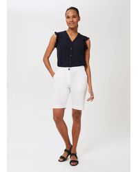 Hobbs Tulip Cotton Blend Shorts With Stretch - White