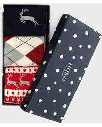 Hobbs Reindeer Sock Set - Multicolour