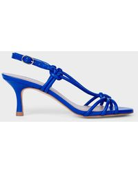 Hobbs Billie Leather Kitten Heel Sandals - Blue