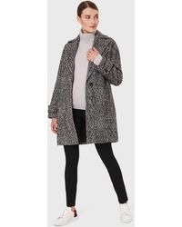 Hobbs Carmen Herringbone Coat With Wool - Black