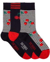 Hobbs - Cherry Sock Set - Lyst
