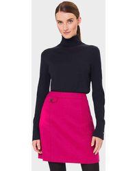 Hobbs Arianne Wool A-line Skirt - Pink