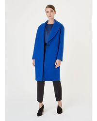 Hobbs Jane Wool Blend Coat - Blue
