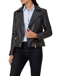 Hobbs - Yasmine Leather Jacket - Lyst