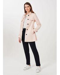 Hobbs Raegan Water Resistant Trench Coat - Pink