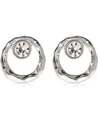 Hobbs - Silver 'pia' Stud Earrings - Lyst
