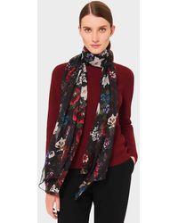 Hobbs Aura Silk Floral Scarf - Multicolor