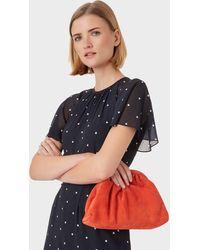 Hobbs Iona Suede Clutch Bag - Red