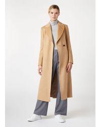 Hobbs Olivia Wool Coat - Natural