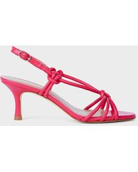 Hobbs Billie Leather Kitten Heel Sandals - Pink