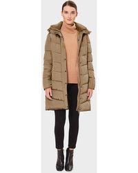 Hobbs Petite Lilian Puffer Jacket With Hood - Natural