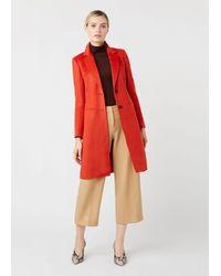 Hobbs Tilda Wool Coat - Red