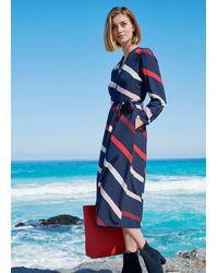Hobbs Petite Ginnie Stripe Dress - Blue