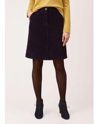 Hobbs Bronte Skirt - Blue