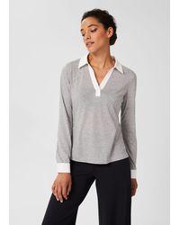 Hobbs Maisie Polo Shirt - Grey