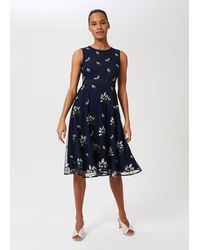 Hobbs Julia Embroidered Floral Dress - Blue