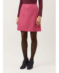 Hobbs Elea Wool Skirt - Pink