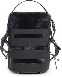 Hogan Bucket Bag Mini H015 - Black