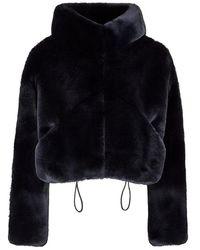 Hogan - Faux Fur Jacket - Lyst