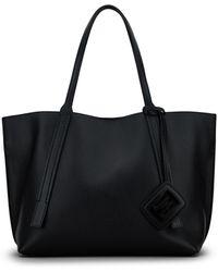 Hogan Shopping Bag With Charm - Black