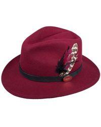 Hicks & Brown - Suffolk Fedora Hat (maroon) - Lyst