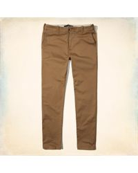 Hollister - Guys Advanced Stretch Super Skinny Chinos From Hollister - Lyst