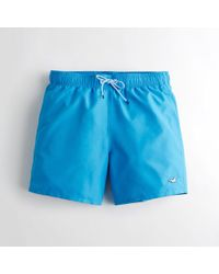 Hollister - Guys Guard Fit Swim Trunks From Hollister - Lyst