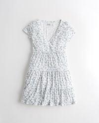 Hollister Tiered Soft Knit Mini Dress - Multicolour