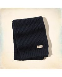 Hollister - Solid Knit Scarf - Lyst