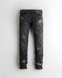 Hollister Stacked Skinny Jeans - Black