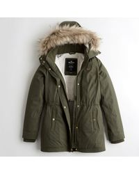 Hollister - Girls Sherpa-lined Parka From Hollister - Lyst