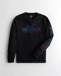 Hollister Print Logo Graphic Tee - Black
