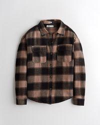 Hollister Hemdjacke aus Flanell - Schwarz