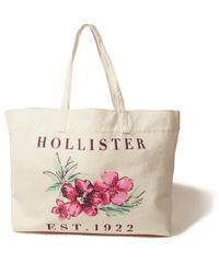 Hollister - Logo Graphic Canvas Tote - Lyst